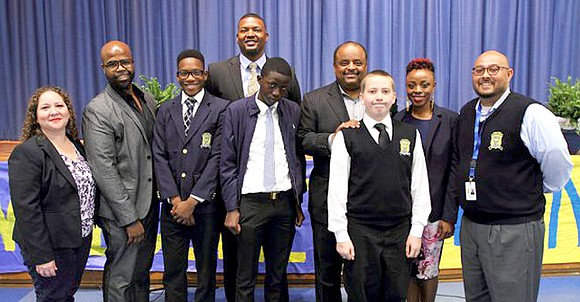 Award-winning journalist Roland S. Martin visited Dallas ISD's Young Men's Leadership Academy at Florence April 18, to motivate students to ...