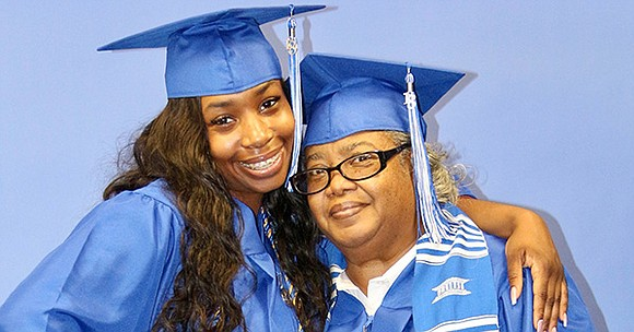 Although born more than 40 years apart, Theresa Lyles and her granddaughter Zuri Lyles were part of the same graduating ...