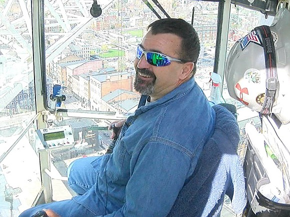 Steve Lancaster, who starts each workday with a 280-foot journey straight up in the air and stays there until quitting ...