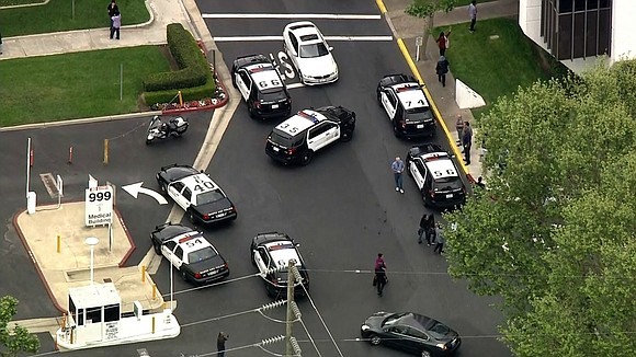 Orange County Global Medical Center in Santa Ana is on lockdown Tuesday morning after officials received a call of a ...