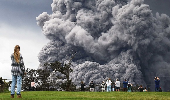 Officials warned residents and airplanes to stay away from part of Hawaii's Big Island after a plume of ash from ...