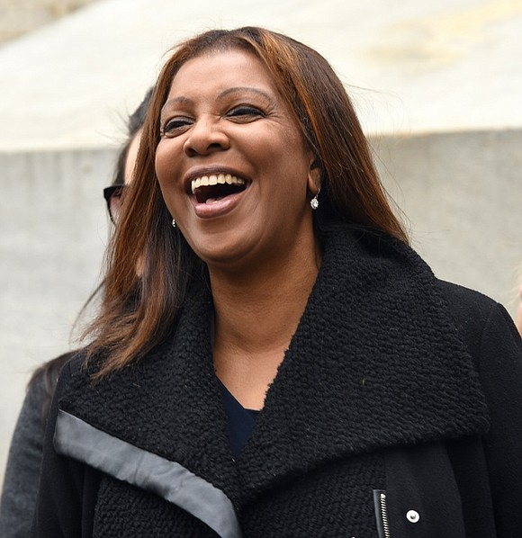 """My name is Letitia James, but my friends call me Tish,"" New York City Public Advocate Letitia James said during ..."