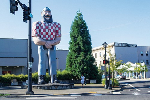 The Kenton Neighborhood in north Portland holds its annual Kenton Street Fair on Sunday, May 20, from 10 a.m. to 6 p.m. The statute of Paul Bunyan stands at the intersection of North Interstate and Denver.