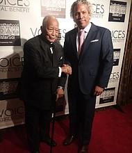Former New York City Mayor David Dinkins and Brotherhood/Sister Sol Founder and Executive Director Khary Lazarre-White