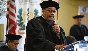 Attorney Michael Hardy speaks at Touro College commencement