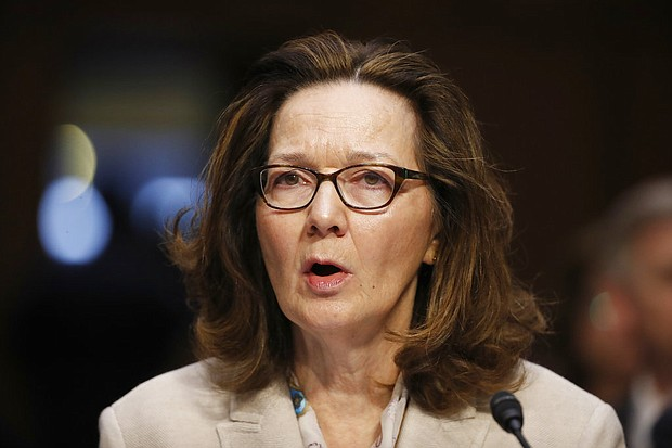 In this May 9, 2018, photo, Gina Haspel testifies during a confirmation hearing of the Senate Intelligence Committee on Capitol Hill in Washington. (AP Photo/Alex Brandon, File)