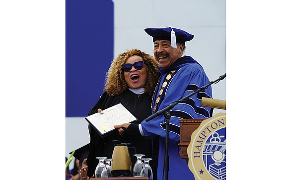 Ruth E. Carter challenged Hampton University students to be brave, to be innovators, to be bridge builders and leaders. At ...