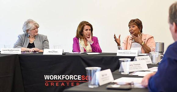 On May 12, Democratic Leader Nancy Pelosi and Congresswoman Eddie Bernice Johnson hosted a roundtable discussion on implementing effective strategies ...