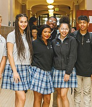 Students fill the halls at De La Salle North Catholic High School. The faith-based, college prep school is losing its lease for a building that it has called home for 11 years, the former Kenton Elementary school in north Portland, and has launched a search for a new home.