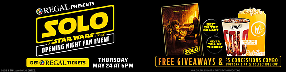 All Star Wars fans are invited to enjoy this exciting event at Regal. The film is rated PG-13 and stars ...