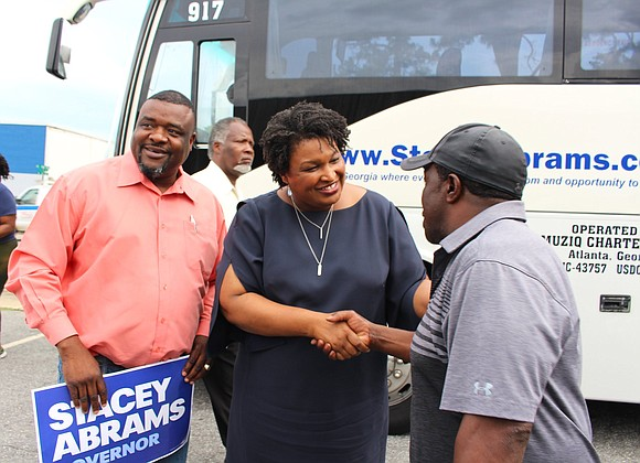 Georgia House Minority Leader Stacey Abrams takes her place in history becoming the Democratic nominee in Georgia's gubernatorial election, making ...