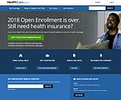 The main page of the healthcare.gov website. (HealthCare.gov via AP)