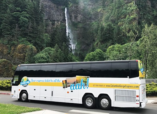 The popular Columbia Gorge Express bus service by the Oregon Department of Transportation begins its third