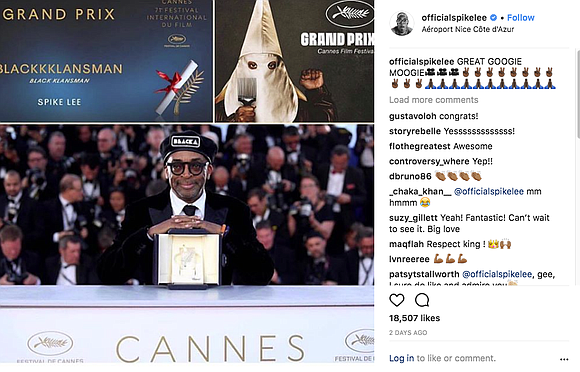Filmmaker, provocateur and NYC legend Spike Lee was awarded the Grand Prix Award at the Cannes film festival for his ...