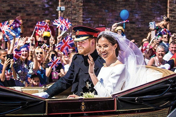 Prince Harry and his American actress bride Meghan Markle married on Saturday in a dazzling ceremony that blended ancient English ...