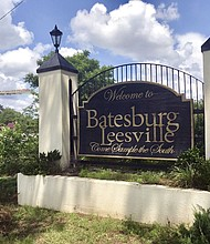 This photo shows a sign for the town of Batesburg-Leesville, S.C. A group is trying to put up a memorial in the town to decorated African-American World War II veteran Sgt. Isaac Woodard, who was beaten and blinded by a white police chief in Batesburg-Leesville in 1946. The brutality inflicted against Woodard by a Southern police chief is credited with inspiring President Harry Truman to integrate the military in 1948. (AP Photo/Christina L. Myers)