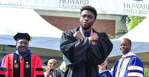 After celebrating the success of back-to-back, global box office hits, Marvel's Black Panther actor Chadwick Boseman, returned to his alma ...