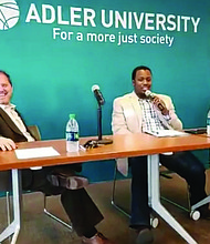 A recent panel discussion held at Adler University brought together three community activists to discuss