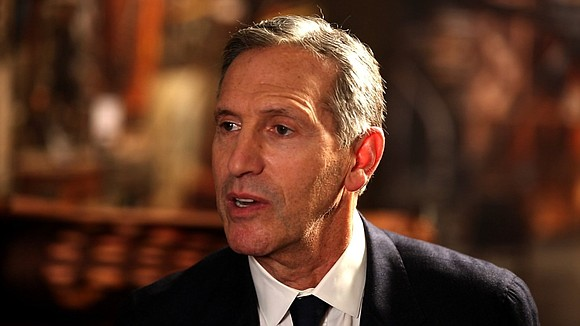 Outgoing Starbucks Executive Chairman Howard Schultz won't say for sure whether he's going to run for president. But he implied ...