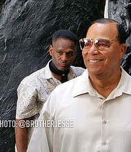 Min. Louis Farrakhan and his son Louis Farrakhan Jr.