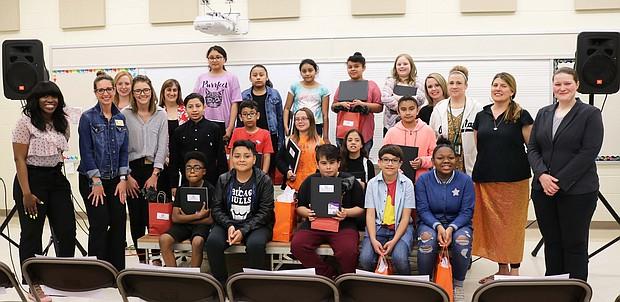 """Art Winners"" – students and art teachers"