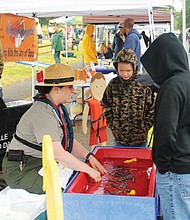 Kids discover the importance of safety around cold water with the help of a Bonneville Lock and Dam park ranger during National Get Outdoors Day, a free event with outdoor activites and family fun, coming Saturday, June 9 from 10 a.m. to 3 p.m. at Fort Vancouver National Historic Site in Vancouver.
