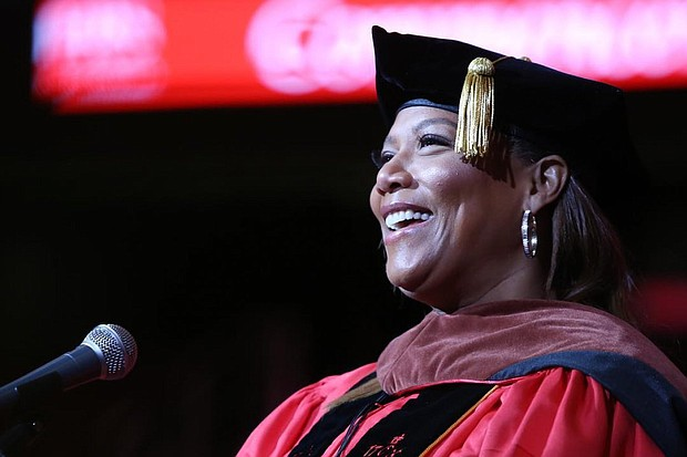 Queen Latifah speaks at Rutgers University - Newark Commencement