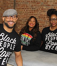 Harlem Hops' Kevin Duane Bradford, Stacey Lee and Kim Harris