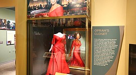 "A section of the ""Watching Oprah: The Oprah Winfrey Show and American Culture,""exhibit is shown on display at the National Museum of African American History and Culture, Wednesday, June 6, 2018 in Washington. The exhibit runs through June 2019. (AP Photo/Tramon Lucas)"