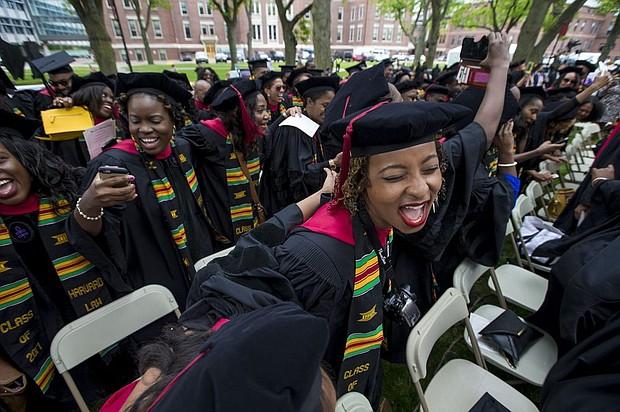 Harvard Black student graduate