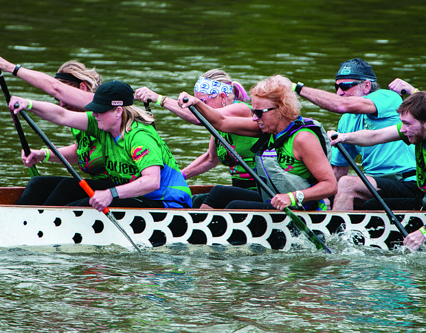 The third annual Chicago Southland Dragon Boat Festival recently took place at the Metropolitan Water Reclamation District Waterfall Park at Chatham and Fulton streets along the Calumet-Saganashkee (Cal-Sag) Channel in Blue Island.