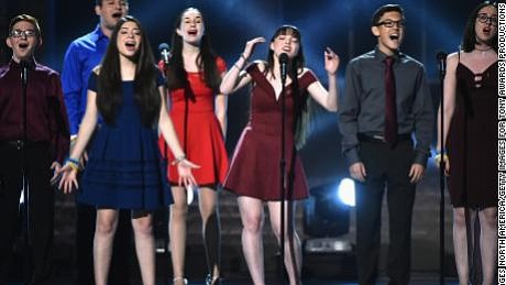 Standing onstage at the Tony Awards, the drama students of Marjory Stoneman Douglas High School sang of love and loss ...