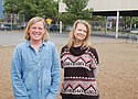 James John Elementary School Principal Samantha Regaisis (left) and Parent volunteer Noelle Guest band together with other community members to raise funds for a new playground at their north Portland school. The old playground was deemed dangerous by the school district and torn down last year, but the district won't pay for a replacement, so they started a GoFundMe page.