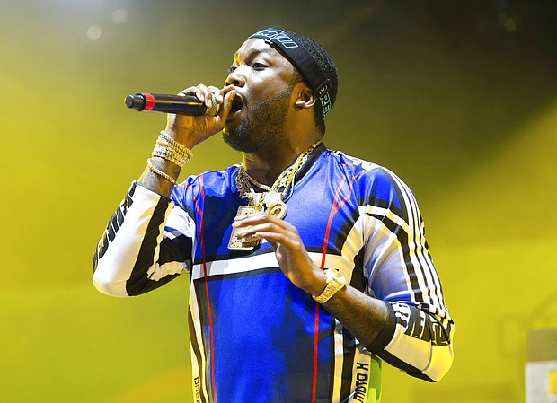 In this June 10, 2018 file photo, rapper Meek Mill performs at HOT 97 Summer Jam 2018 in East Rutherford, N.J. (Photo by Scott Roth/Invision/AP, File)