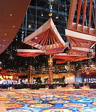 The reconfigured casino floor inside the Ocean Resort Casino in Atlantic City, N.J., as the former Revel property prepares to reopen under a new owner and a new brand on June 28, 2018. (AP Photo/Wayne Parry)