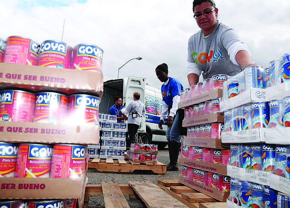 Goya Foods, America's largest Hispanic-owned food company, has made an initial donation of three tons of Goya products, including canned ...