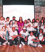 The YMCA of Metropolitan Chicago recently hosted the Story Squad Showcase event at Revival Theater in Hyde Park. The Story Squad Showcase event at Revival Theater in Hyde Park featured original stories written, recorded, and performed by young people in the YMCA's Youth Safety and Violence Prevention Program who participated in the 15-week Story Squad curriculum.  Photo: YMCA of Metropolitan Chicago