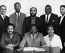 Dorothy Cotton with Dr. Martin Luther King, Jr. and SCLC members