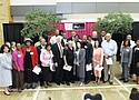 A group photo from the first Worship in Pink Clergy Breakfast, which was held in 2011.