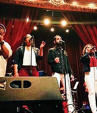 Rise Up, a Seattle-based Hamilton Musical Tribute Band, is playing at the Alberta Rose Theater this Saturday, June 23 in their first trip to Portland.