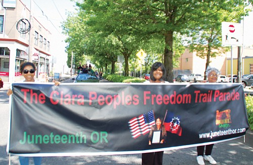 Portland's Juneteenth parade honors the late Mother of Juneteenth in Oregon, Clara Peoples, who brought the celebration of the emancipation of slavery from Muskogee, Okla. to Portland in 1945.