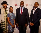 Jonathan McCrory (Artistic Director NBT), Michelle Wilson (Actress, NBT Board Member), Van Jones (Journalist and Honoree), Brandon Victor Doxon (Singer, actor, producer, Honoree)