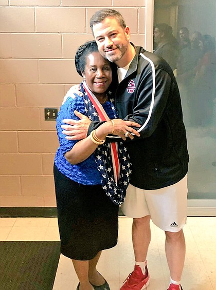 Congresswoman Sheila Jackson Lee and Jimmy Kimmel at TSU/photo cred Vicky Pink