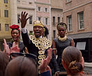 Jamie Foxx in commercial promoting the BET Awards