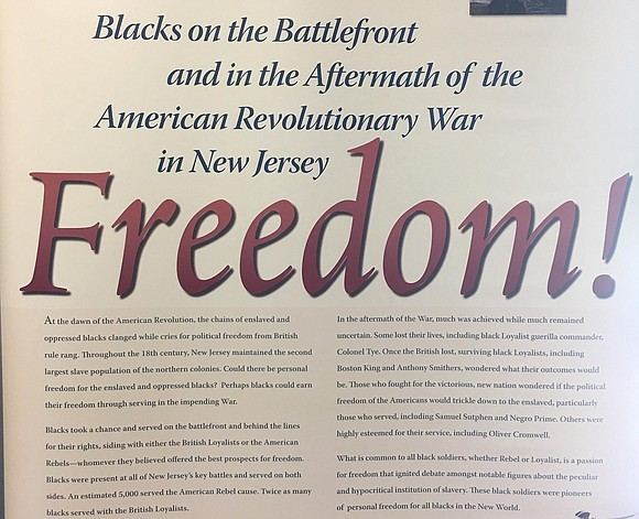 An exhibit traveling through the Garden State spotlights African-Americans' contributions on the battlefront during the American Revolutionary War and what ...