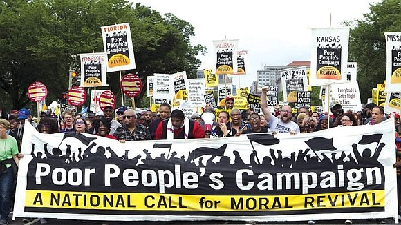 A multiracial, intergenerational crowd of thousands of social justice activists, union workers and people of faith prayed, cheered and listened ...