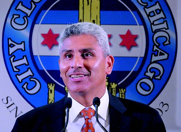The City Club of Chicago recently hosted Juan Salgado, chancellor of the City Colleges of Chicago (CCC), as their honored ...