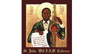Musician John Coltrane is revered by a San Francisco congregation a half-century after his death.  Full credit: Rev. Deacon Mark Dukes/St. John Coltrane Church Gallery