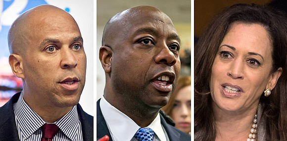 Sen. Kamala Harris (California), Cory Booker (New Jersey) and Tim Scott (South Carolina) introduced a bill...