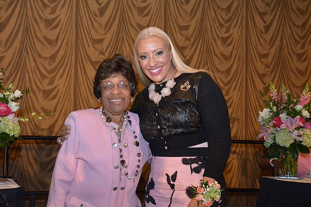 Mia Wright with 21st International President of Alpha Kappa Alpha Sorority, Incorporated Faye B. Bryant